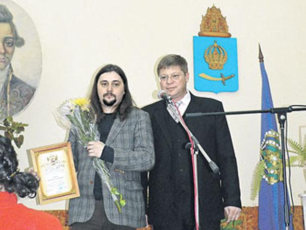 Александр Гриценко на вручении Литературной премии имени Ивана Хемницера